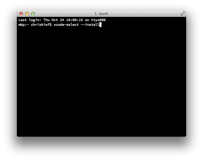 OS X Mavericks, Xcode 5 0 1 and the Missing Command Line Tools