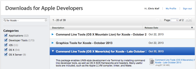 OS X Mavericks, Xcode 5 0 1 and the Missing Command Line